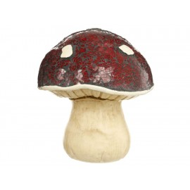 L-World Figura Decorativa Mushroom Cristal Rojo - Envío Gratuito