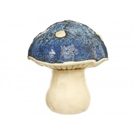 L-World Figura Decorativa Mushroom Cristal Azul - Envío Gratuito