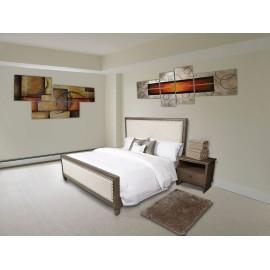 Farzin Pie de Cama Vegas 105 x 70 Beige - Envío Gratuito