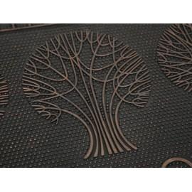 Trees Tapete de Entrada Negro - Envío Gratuito