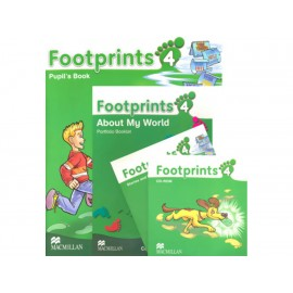 Footprints 4 Pupils Book Portfolio Booklet con CD and CD ROM Pack - Envío Gratuito