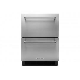 KitchenAid Refrigerador Doble Cajón 5 Pies Cúbicos Gris Acero - Envío Gratuito