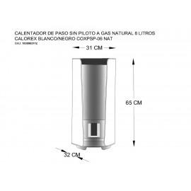 Calorex Calentador de Gas Natural 6 Litros Blanco - Envío Gratuito