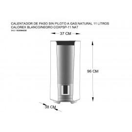Calentador de Gas Natural Calorex 11 Litros COXPSP 11 Blanco - Envío Gratuito