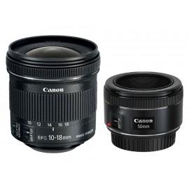 Kit Lentes Canon EF50/1.8 EF-S10-18 - Envío Gratuito