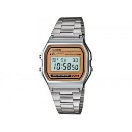 Casio Classic A158WEA-9VT Reloj Unisex Color Plata - Envío Gratuito