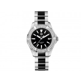 Tag Heuer Aquaracer WAY131E.BA0913 Reloj para Dama Color Acero/Negro - Envío Gratuito
