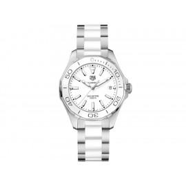 Tag Heuer Aquaracer WAY131B.BA0914 Reloj para Dama Color Acero/Blanco - Envío Gratuito
