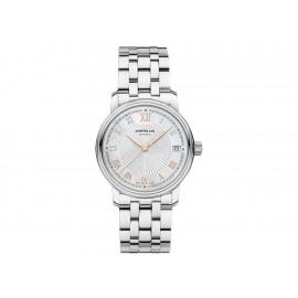 Montblanc Tradition Date Automatic 114367 Reloj para Dama Color Acero - Envío Gratuito