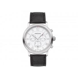Montblanc Tradition Chronograph 114339 Reloj para Caballero Color Negro - Envío Gratuito