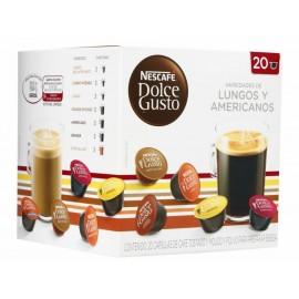 Dolce Gusto Nescafé 20 cápsulas Lungos y Americanos - Envío Gratuito