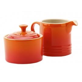 Le Creuset Azucarera y Cremera Naranja Flame - Envío Gratuito