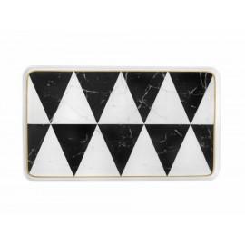 Platón rectangular Vista Alegre negro suavizado - Envío Gratuito