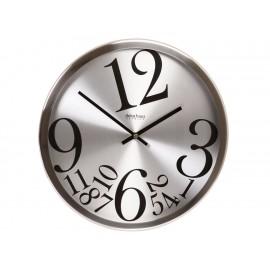 Decoregalo Reloj de Pared Contemporáneo Cromado 2717 BRUSHED - Envío Gratuito