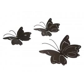 Acento Mexicano Juego de 3 Mariposas Turín Chocolate - Envío Gratuito