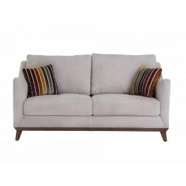Love Seat Dixy contemporáneo gris - Envío Gratuito
