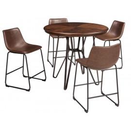 Set de sillas Ashley D372 124 café - Envío Gratuito