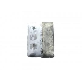 Cobija Nap elefante algodón gris - Envío Gratuito
