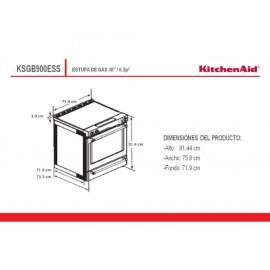 Estufa 30 Pulgadas KitchenAid KSGB900ESS acero - Envío Gratuito