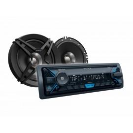 Sony Kit DSX-A400BT XS-FB161E Autoestéreo Negro - Envío Gratuito