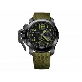 Reloj para caballero Graham Chronofighter 2CCAU.G01A.T15N verde - Envío Gratuito