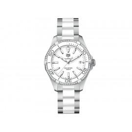 Tag Heuer Aquaracer WAY131H.BA0914 Reloj para Dama Color Acero/Blanco - Envío Gratuito
